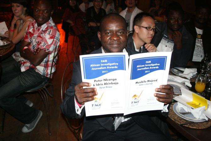 Entries open for African Investigative Journalism Awards/ Les inscriptions pour les Prix du journalisme d'investigation africain ouverts / Inscrições para os Prêmios para o Jornalismo Investigativo Africano agora abertas