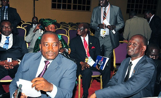 Photo Eddie Ssejjoba New Vision DRC KAbila and South Sudan Commerce Minister in Kampala Nov 25