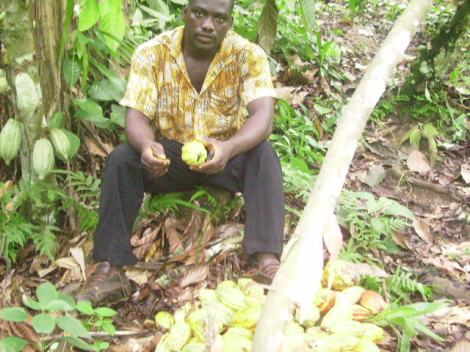 YOUNG GRADUATE FARMER AYUK OROCK FROM CAMEROON
