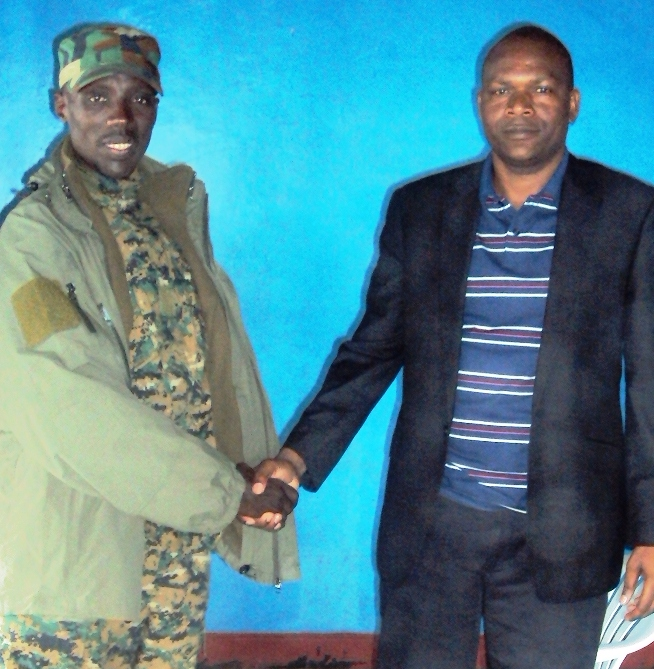Mgamba with M23 rebel commander Goma