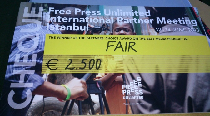 FAIR wins Partners Choice Media Award in Istanbul